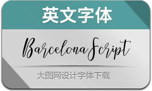 BarcelonaScript(英文字体)