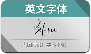 Befine(英文字体)