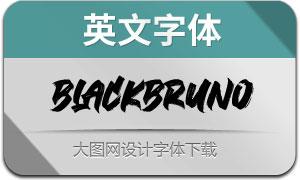 BlackBruno(英文字体)