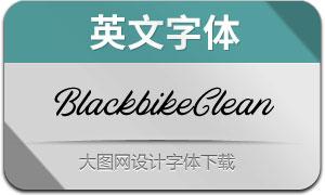 Blackbike-Clean(英文字体)