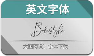 Bobistyle(英文字体)