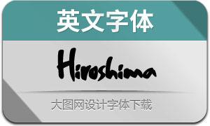 Hiroshima(英文字体)
