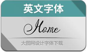 Home(英文字体)