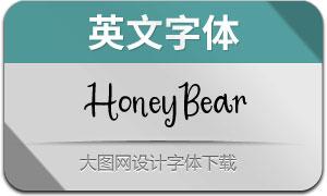 HoneyBear(英文字体)