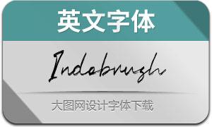 Indobrush系列三款英文字体