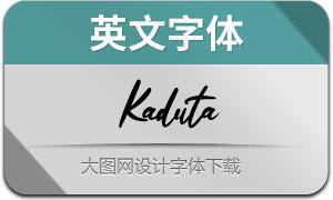 Kaduta(英文字体)