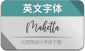 Mahetta(英文字体)
