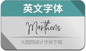 Marthens(英文字体)