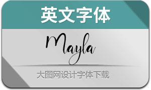 Mayla(英文字体)