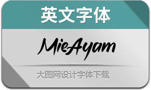 MieAyam(英文字体)