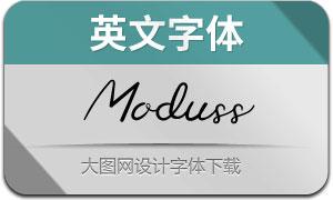 Moduss(英文字体)