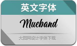 Mueband(英文字体)