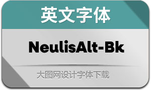 NeulisAlt-Black(英文字体)