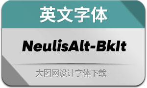NeulisAlt-BlackItalic(英文字体)
