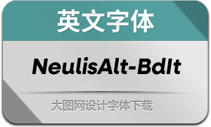NeulisAlt-BoldItalic(英文字体)