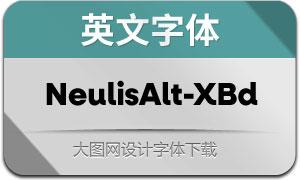 NeulisAlt-ExtraBold(英文字体)