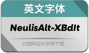 NeulisAlt-ExtraBoldIt(英文字体)