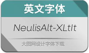 NeulisAlt-ExtraLightIt(英文字体)