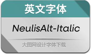 NeulisAlt-Italic(英文字体)