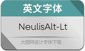 NeulisAlt-Light(英文字体)
