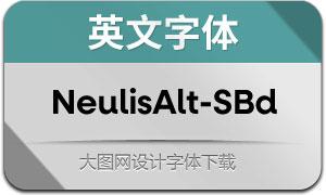 NeulisAlt-SemiBold(英文字体)