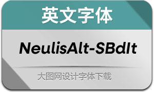 NeulisAlt-SemiBoldItalic(英文字体)