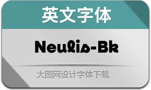Neulis-Black(英文字体)