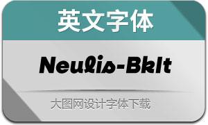 Neulis-BlackItalic(英文字体)