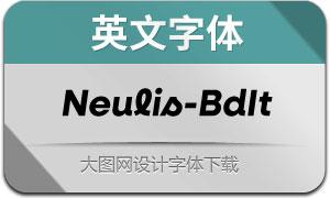 Neulis-BoldItalic(英文字体)