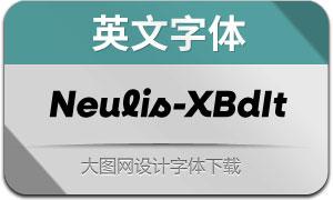 Neulis-ExtraBoldItalic(英文字体)