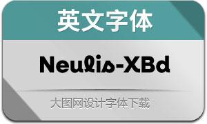 Neulis-ExtraBold(英文字体)