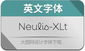 Neulis-ExtraLight(英文字体)