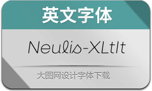 Neulis-ExtraLightItalic(英文字体)