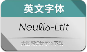 Neulis-LightItalic(英文字体)