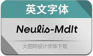 Neulis-MediumItalic(英文字体)