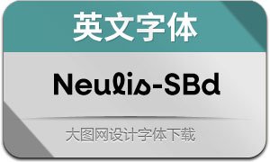 Neulis-SemiBold(英文字体)
