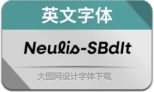 Neulis-SemiBoldItalic(英文字体)