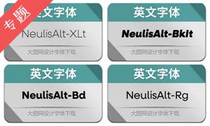 NeulisAlt系列英文字体