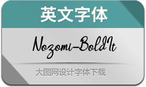 Nozomi-BoldItalic(英文字体)