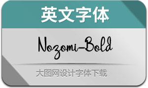 Nozomi-Bold(英文字体)