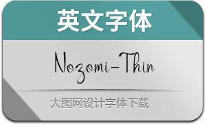 Nozomi-Thin(英文字体)