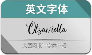 Olsaviella-Regular(英文字体)