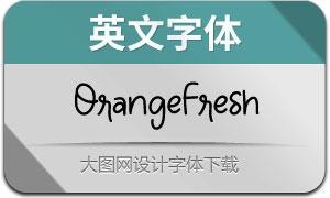 OrangeFresh(英文字体)