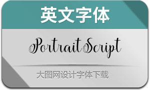 PortraitScript系列6款英文字体