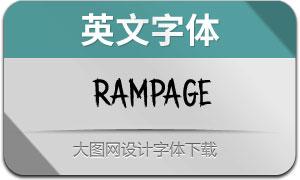 Rampage(英文字体)