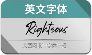 Righteous(英文字体)