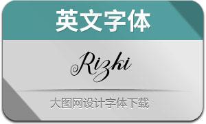 Rizki(英文字体)
