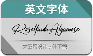 RosellindaAlyamore(英文字体)