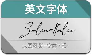 Soulia-Italic(英文字体)