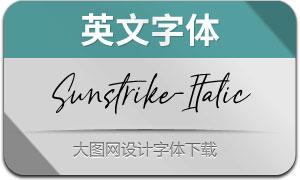 Sunstrike-Italic(英文字体)
